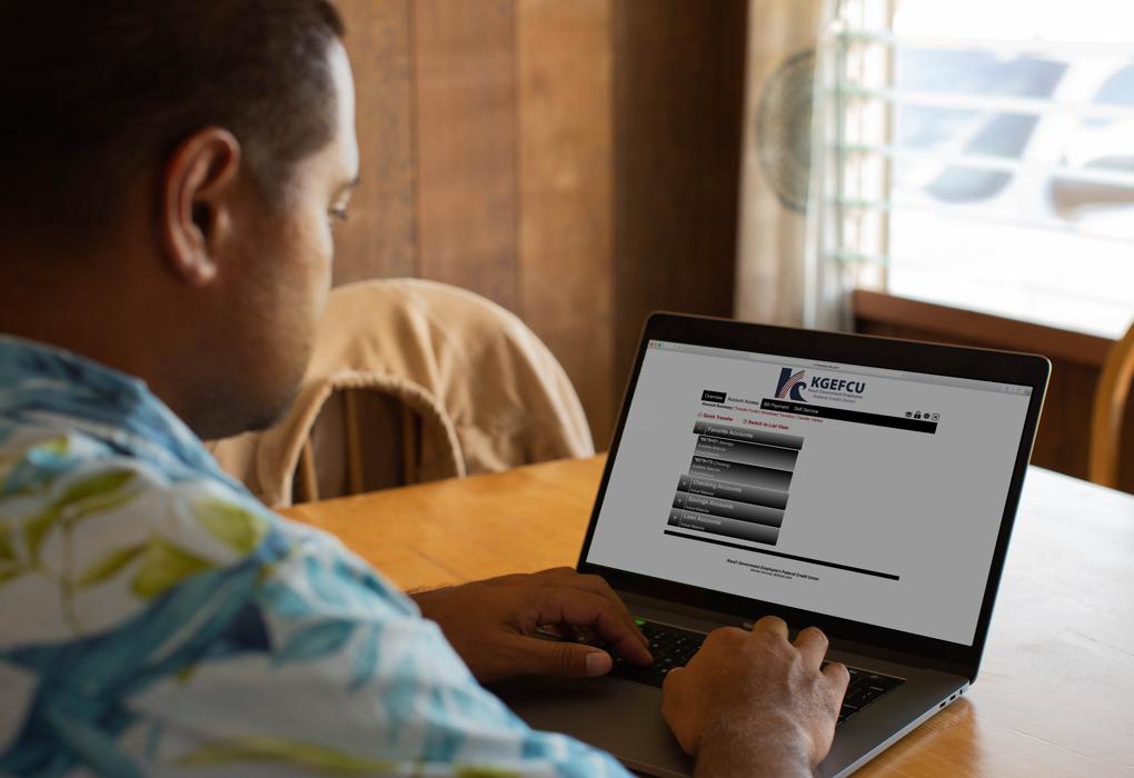 Online Banking Desktop Screen